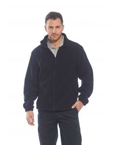 Aran Fleece Jacket, Black M