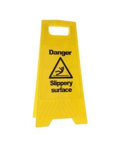 Danger Slippery Surface A Frame