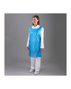 Disposable Aprons 69cm x 102cm Flat Packed Blue 8mu